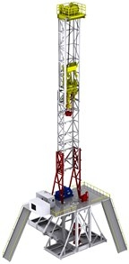 AXON Rig Concept & Design: AXON land rig packages are available in numerous varieties and are specifically designed for ease of rig-up and rig-down. Compliant with API 4F 4th Edition specifications, these land rig packages feature mast and substructure transport in as few as six loads. Moreover, all loads are designed with TXDOT specifications in mind to eliminate the need for escorts during transportation.